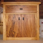 bedside table, spalted beech and claret ash
