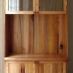 Victorian ash display and storage cupboard