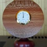Clock, banksia &with redgum foot