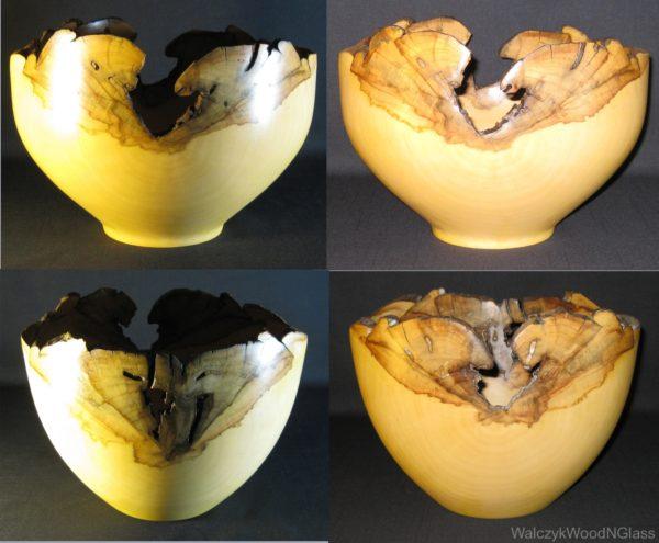 Two Acer negundo natural edged bowls