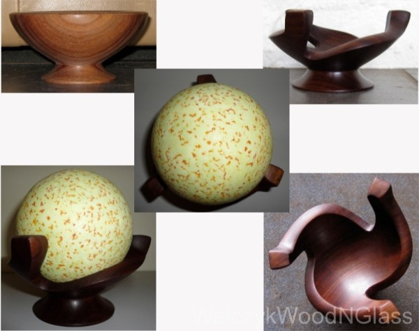 Commissioned gidgee stand for spherical stone