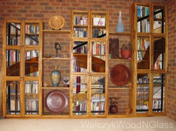 bookcase leadlight