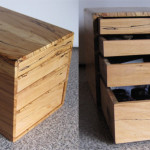calligraphy box, spalted beech