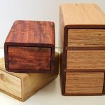 magnet boxes and chest figured redgum, paulownia, reclaimed ash