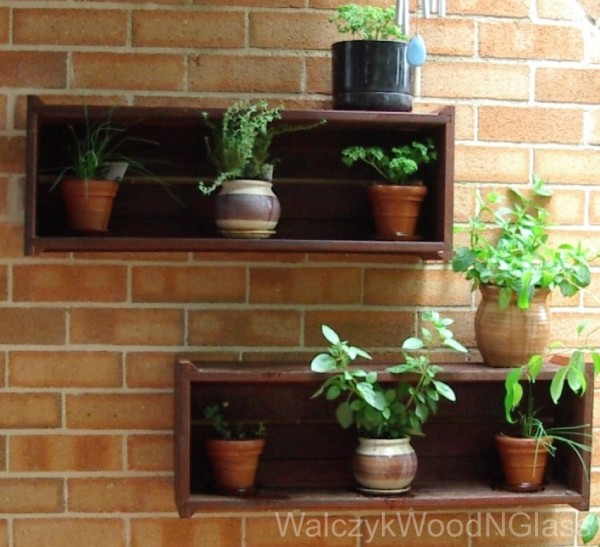 plant boxes. recycled merbeu decking